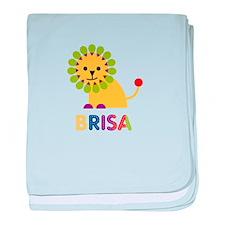 Brisa the Lion baby blanket