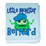 Little Monster Bernard baby blanket