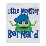 Little Monster Bernard Throw Blanket