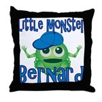 Little Monster Bernard Throw Pillow