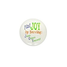 Find Joy in serving Jesus Oth Mini Button (10 pack