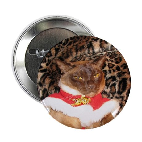"""FPG Xmas Cat II 2.25"""" Button (10 pack)"""