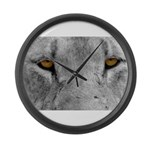 Lion Eyes Large Wall Clock