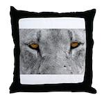 Lion Eyes Throw Pillow