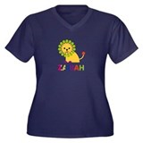 Zariah the Lion Women's Plus Size V-Neck Dark T-Sh