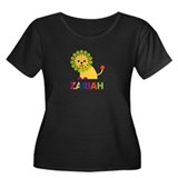Zariah the Lion Women's Plus Size Scoop Neck Dark