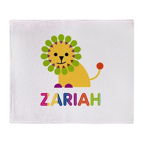 Zariah the Lion Throw Blanket