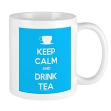 Keep Calm & Drink Tea (Light Blue) Mug