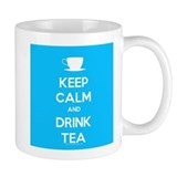 Keep Calm & Drink Tea (Light Blue) Small Mugs