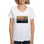 Phinda Sunset Women's V-Neck T-Shirt