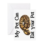My Pet Can Eat Your Pet Greeting Card
