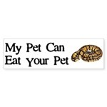 My Pet Can Eat Your Pet Sticker (Bumper 50 pk)
