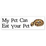 My Pet Can Eat Your Pet Sticker (Bumper 50 pk)