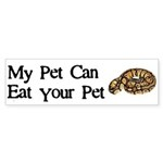 My Pet Can Eat Your Pet Sticker (Bumper 10 pk)