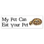 My Pet Can Eat Your Pet Sticker (Bumper 10 pk)