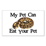 My Pet Can Eat Your Pet Sticker (Rectangle)
