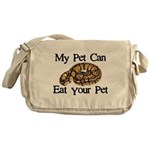 My Pet Can Eat Your Pet Messenger Bag