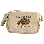 My Pet Can Eat Your Pet Messenger Bag