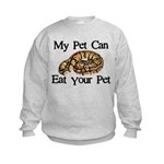 My Pet Can Eat Your Pet Kids Sweatshirt