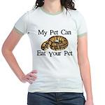My Pet Can Eat Your Pet Jr. Ringer T-Shirt