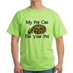 My Pet Can Eat Your Pet Green T-Shirt