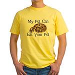 My Pet Can Eat Your Pet Yellow T-Shirt