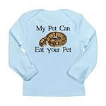 My Pet Can Eat Your Pet Long Sleeve Infant T-Shirt