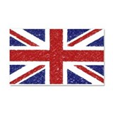 BRITISH FLAG Car Magnet 20 x 12