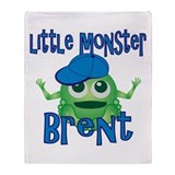 Little Monster Brent Throw Blanket