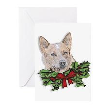 Red Heeler Christmas Greeting Cards (Pk of 20)