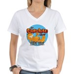 Garfield Show Logo Women's V-Neck T-Shirt