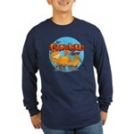 Garfield Show Logo Long Sleeve Dark T-Shirt
