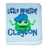 Little Monster Clayton baby blanket