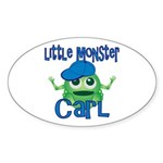 Little Monster Carl Sticker (Oval)