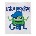 Little Monster Carl Throw Blanket