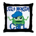 Little Monster Carl Throw Pillow
