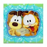 Garfield Goofy Faces Tile Coaster
