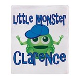 Little Monster Clarence Throw Blanket