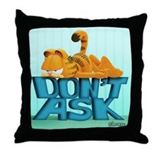 "Garfield ""Don't Ask"" Throw Pillow"