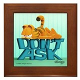 Garfield &quot;Don't Ask&quot; Framed Tile
