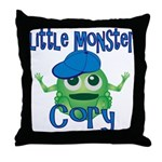 Little Monster Cory Throw Pillow