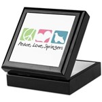 Peace, Love, Springers Keepsake Box