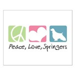 Peace, Love, Springers Small Poster