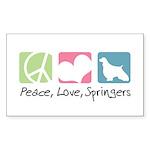 Peace, Love, Springers Sticker (Rectangle 50 pk)
