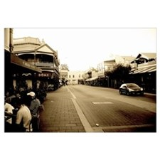 Fremantle Cafe Strip Framed Picture