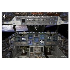 "Space Shuttle Cockpit 35"" x 23"""