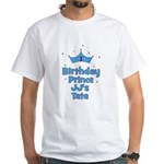 CUSTOM JJ's Tata 1st Birthday Prince White T-Shirt