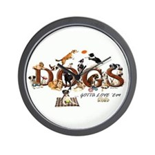 """Dogs of All Kinds"" Custom Wall Clock"