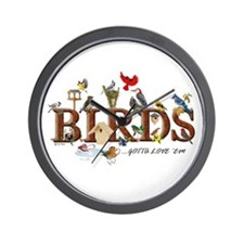 """Birds of All Kinds"" Custom Wall Clock"