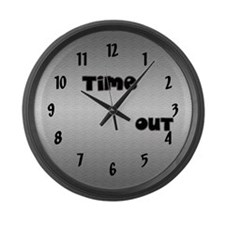 """Time Out"" Custom Large Wall Clock"